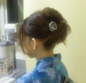 浴衣に似合う「髪型」アップヘア 定番ですね。