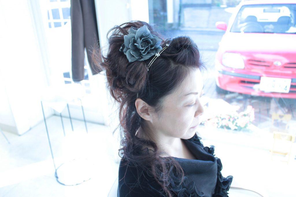 結婚式 洋装「髪型」アップヘア