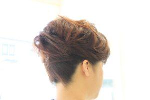 和装「髪型」アップヘア 入学式