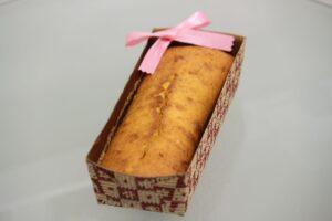 男性のお客様に頂いた 手作り パウンドケーキ です 。