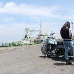 茨城県神栖市 波崎漁港 天気が良いので ハーレーツーリング