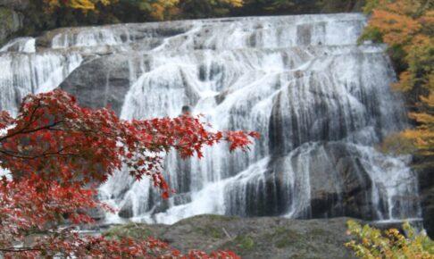 袋田の滝 ハーレー 「紅葉シーズン」