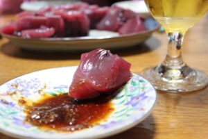 銚子といえば魚 戻り鰹 (モドリガツオ) 刺身 美味い!