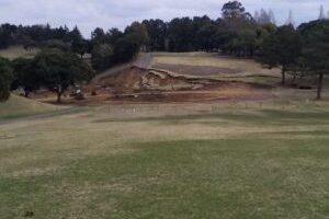大地震 ゴルフ場でも こんなに被害が