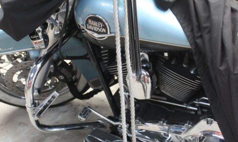 バイク 地震対策 アンカーを打つ 倒されてたまるものか!