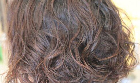 クリープパーマ 「肩甲骨まであった髪を バッサリとカット!」