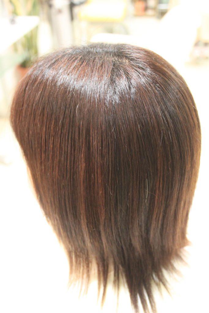縮毛矯正 羽毛ケラチン 「羽カチ+アニオン水を使用し コンプレックス」