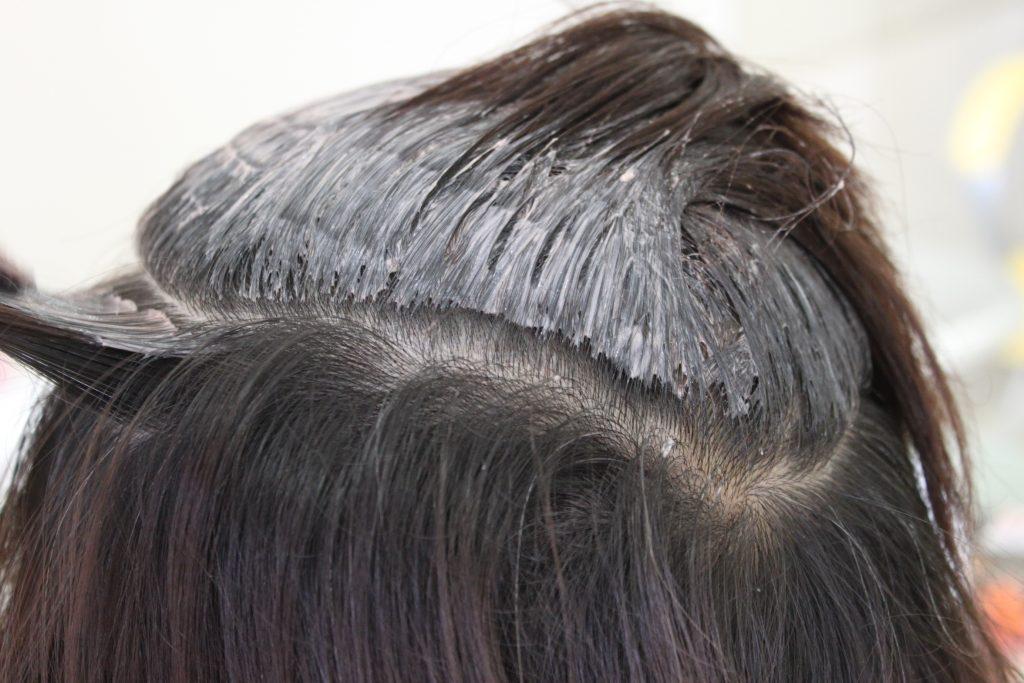 ヘアカラー 頭皮が弱く かぶれる場合の施術方法