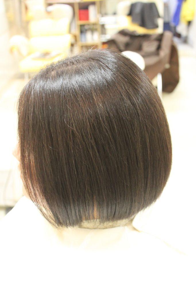 丸みのある 縮毛矯正 ボブヘア