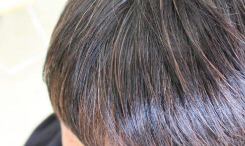 ヘアマニキュア ヘナ毛に 「前髪矯正」
