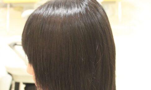 酸性矯正で対応 縮毛矯正