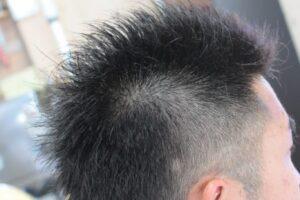 メンズヘア モヒカンライン バリカン3mm