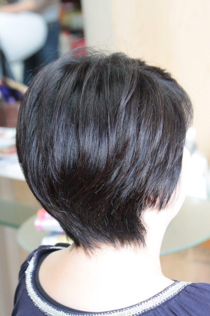 ミセス髪型 ショート カラーリング