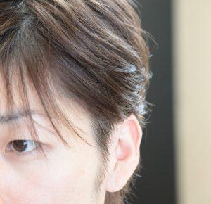 メンズヘア ツーブロック 耳上部3cm