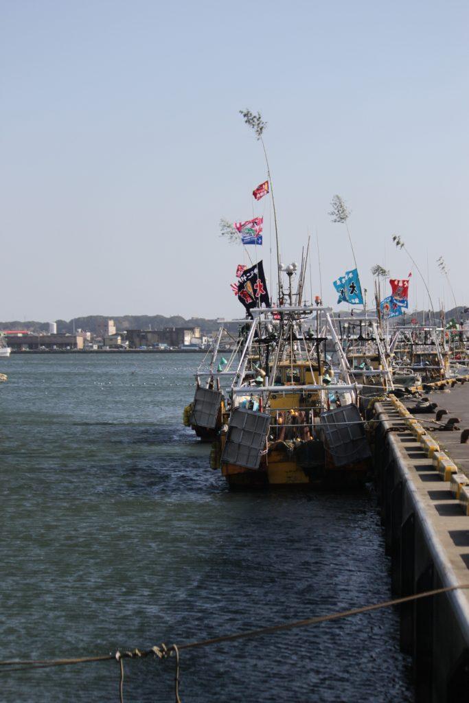 漁業 の 町 銚子 「大漁旗に 笹」