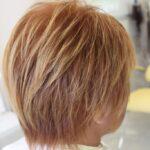 ショートヘアを金髪に!毛先は ハイライト